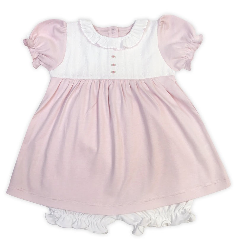 Baby Girl's Pink and White Rosebuds Dress - Little Threads Inc. Children's Clothing