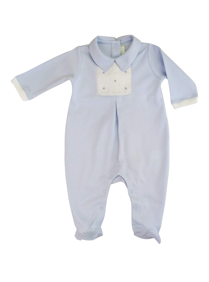 Baby Boy's Blue Dot Footie - Little Threads Inc. Children's Clothing