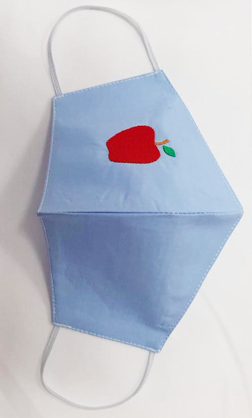 Apple embroidery Back to School Children Mask - Little Threads Inc. Children's Clothing