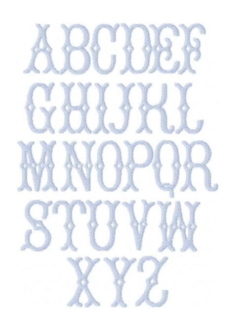 Avery Filled Embroidery Font - Little Threads Inc. Children's Clothing