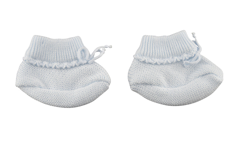Blue Knit Booties - Little Threads Inc. Children's Clothing