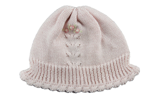Girls Pink Knitted Hat