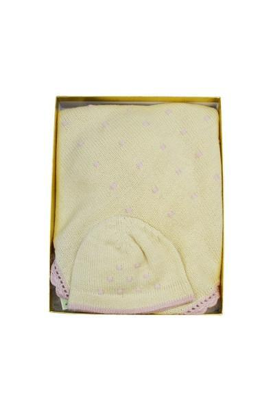 Ivory with Pink Dots Baby Alpaca Gift Set - Little Threads Inc. Children's Clothing