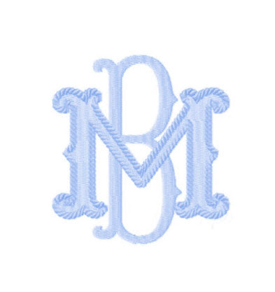 Barret Cord 2 letter monogram - Little Threads Inc. Children's Clothing