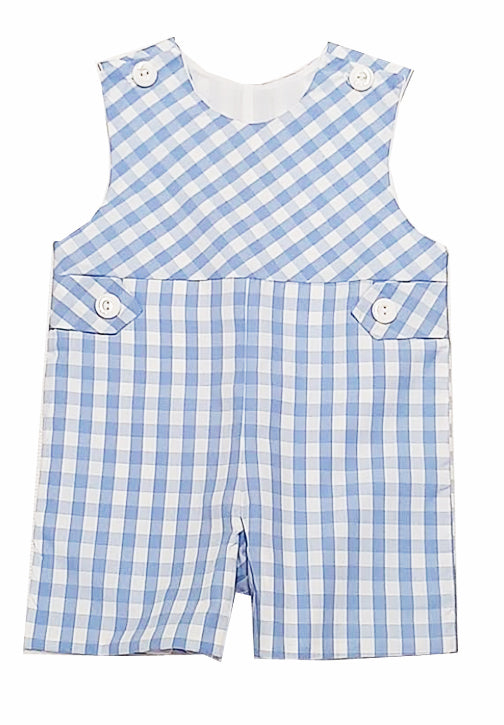 Carson Blue checks boy's Overall - Little Threads Inc. Children's Clothing