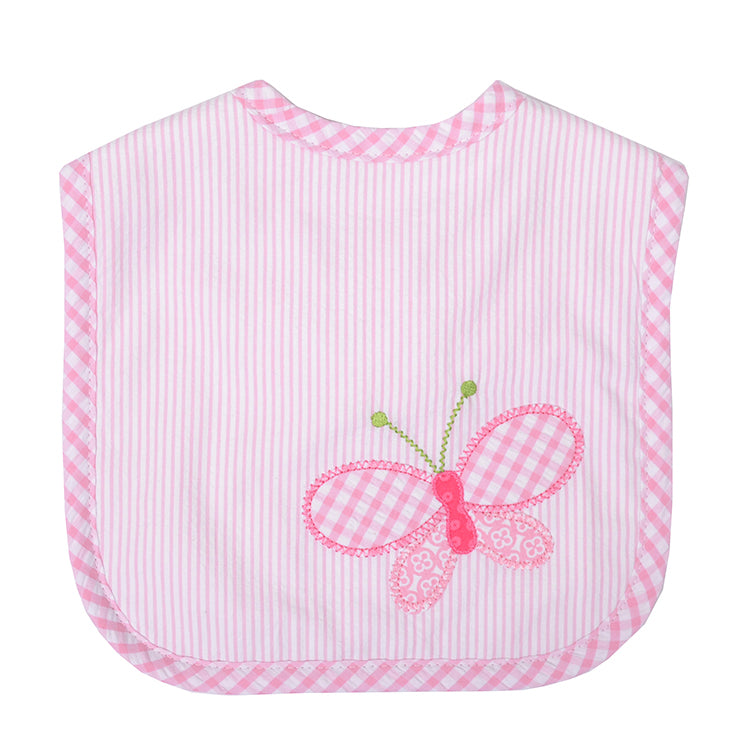 Butterfly applique Baby Girl Bib - Little Threads Inc. Children's Clothing