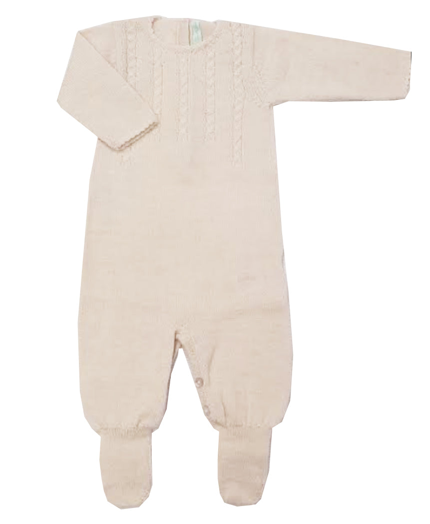 Ivory Baby Alpaca Footie - Little Threads Inc. Children's Clothing