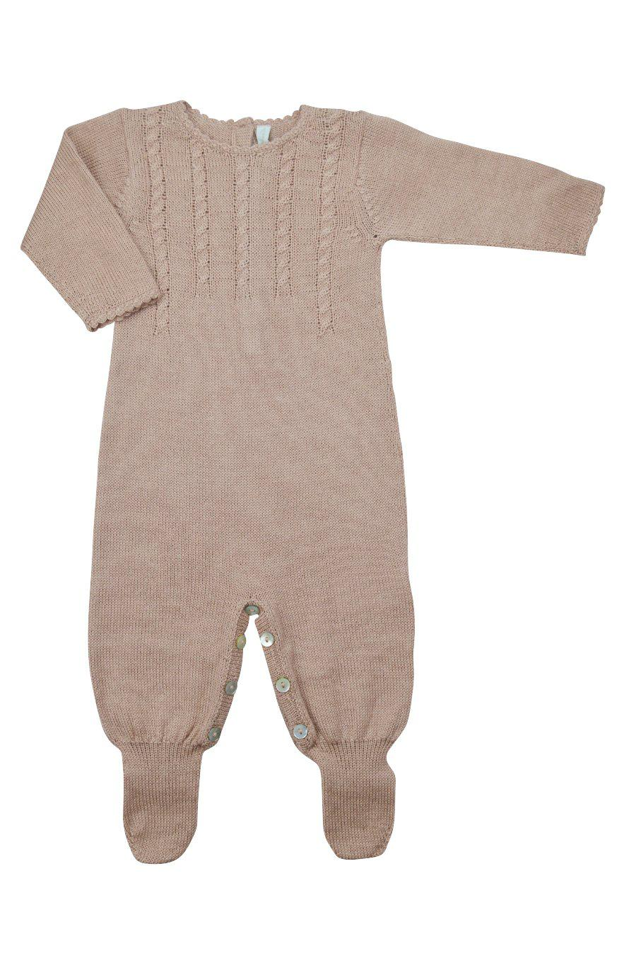 Pink Baby Alpaca Footie - Little Threads Inc. Children's Clothing