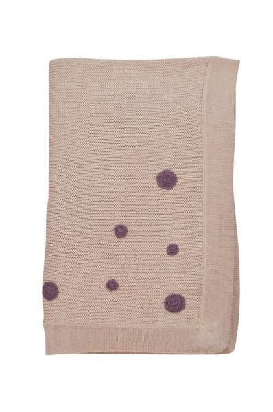 Pink Baby Alpaca Blanket with Burgundy Dots - Little Threads Inc. Children's Clothing