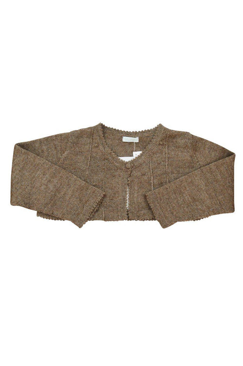 Brown Baby Alpaca Bolero Sweater