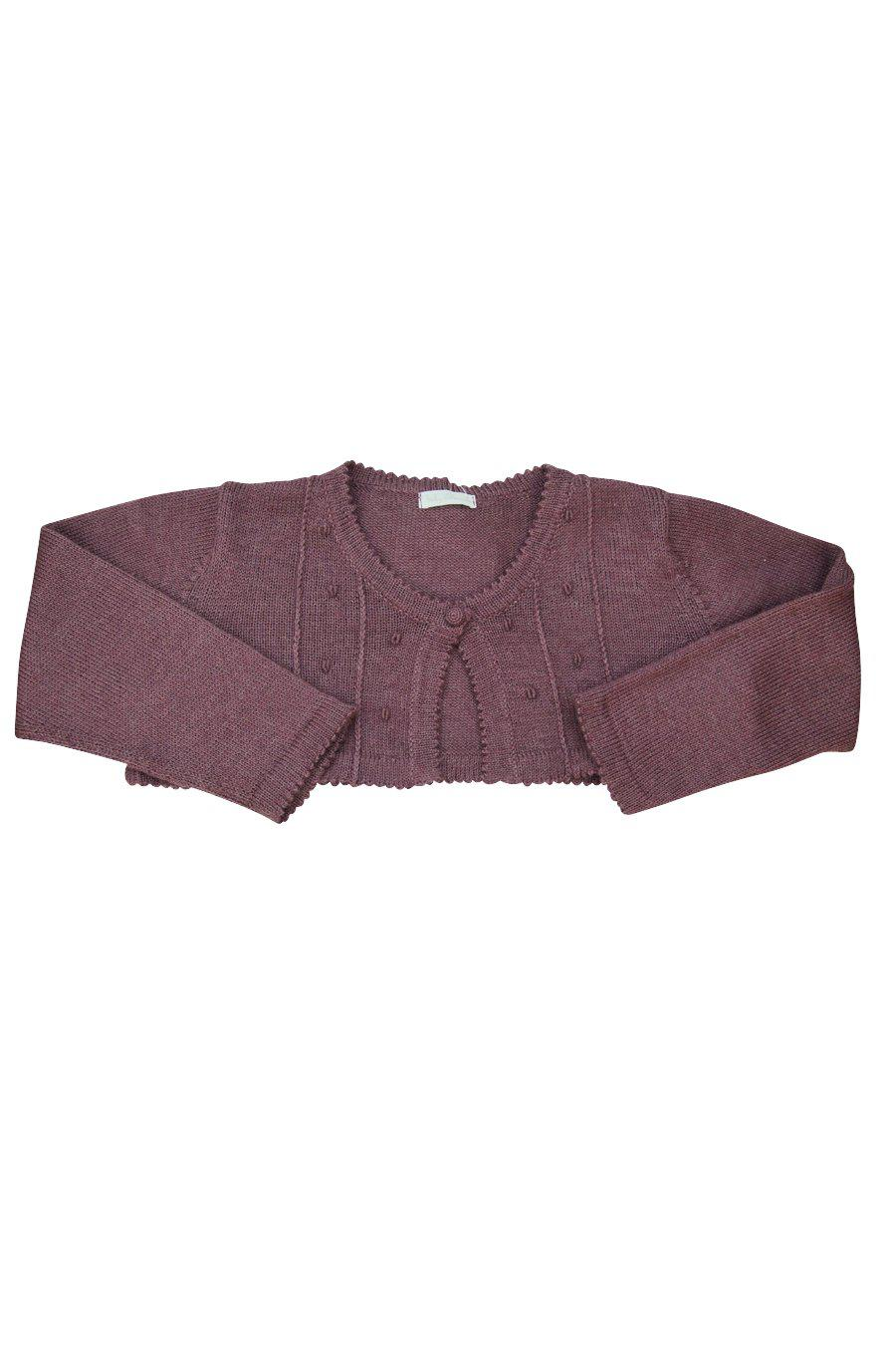 Mauve Baby Alpaca Bolero Sweater - Little Threads Inc. Children's Clothing