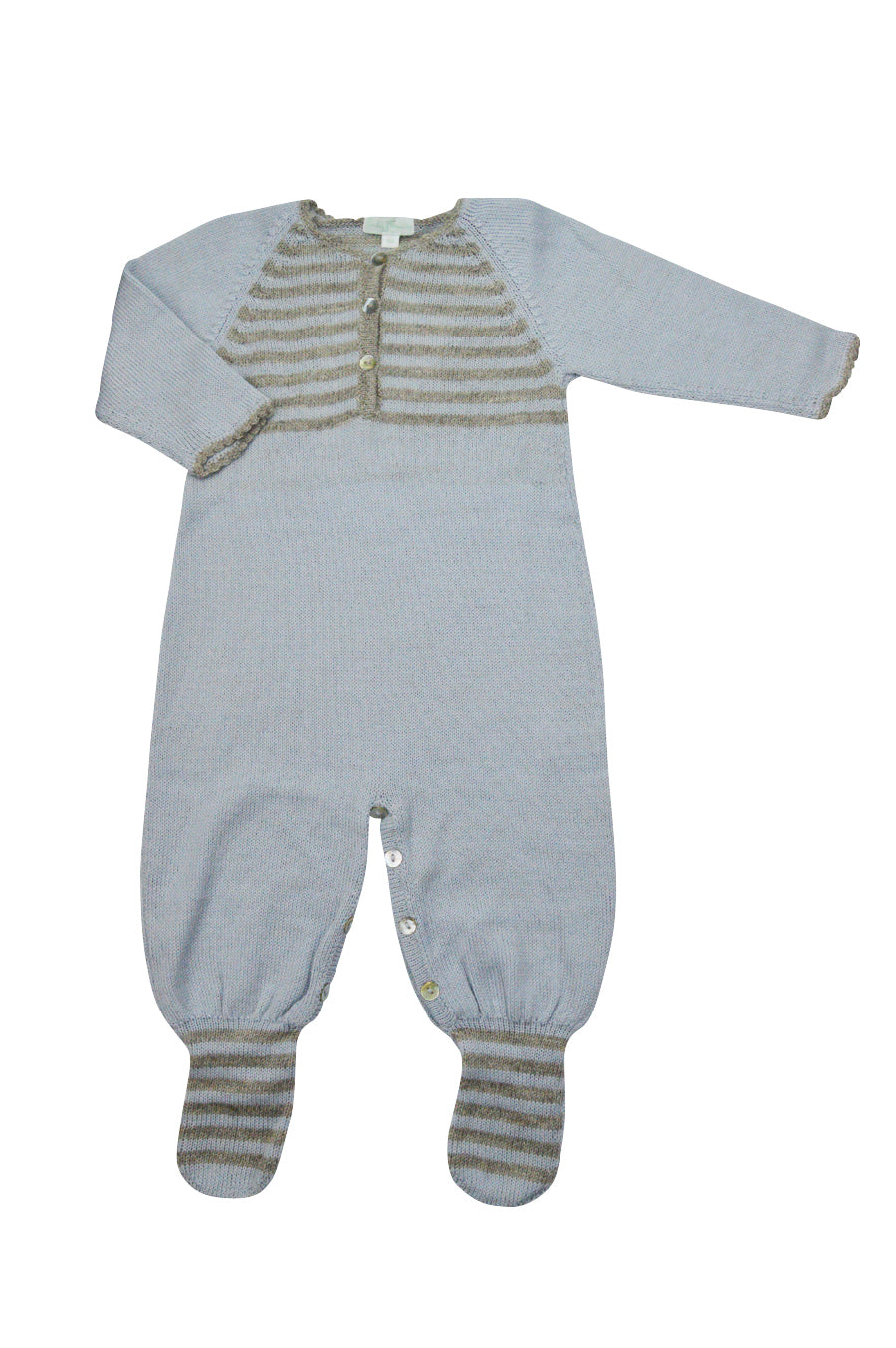 Blue Grey Baby Alpaca Footie - Little Threads Inc. Children's Clothing