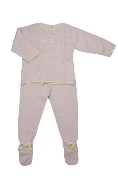Pink Baby Alpaca Sweater & Footie Pant Set - Little Threads Inc. Children's Clothing