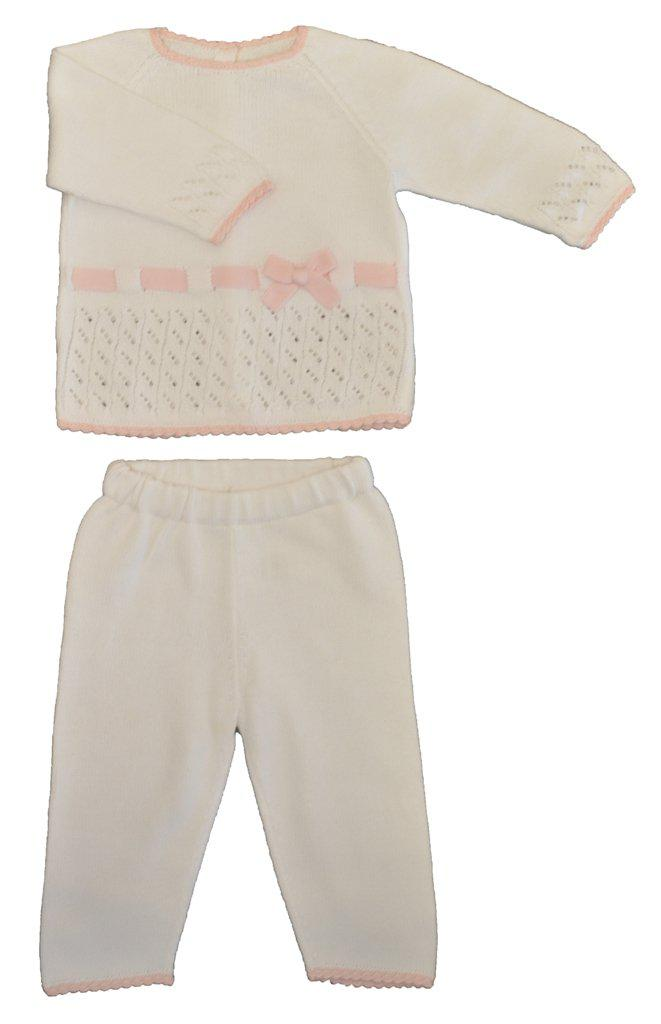 Baby Threads Pima cotton Knitted Baby Girl Pant set - Little Threads Inc. Children's Clothing