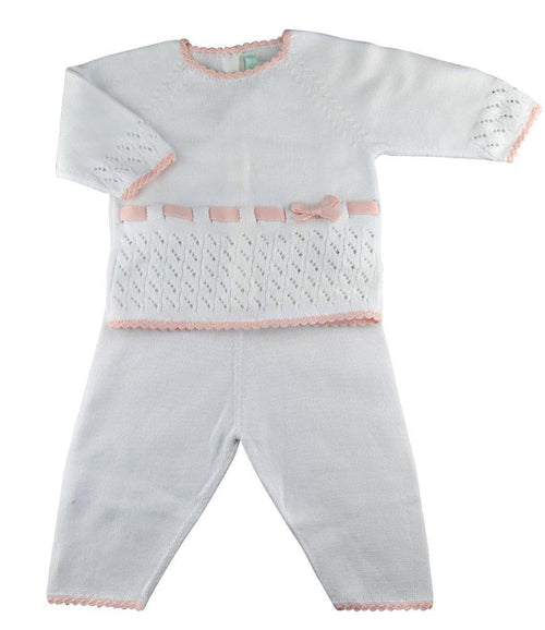 Baby Threads Pima cotton Knitted Baby Girl Pant set