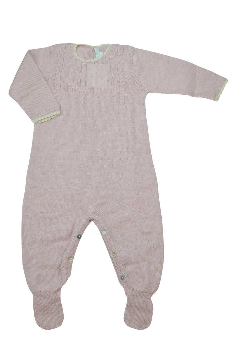 Pink Alpaca Footie - Little Threads Inc. Children's Clothing
