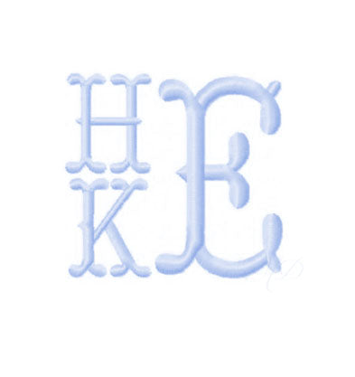 Cowboy fishtail 3 letter monogram - Little Threads Inc. Children's Clothing