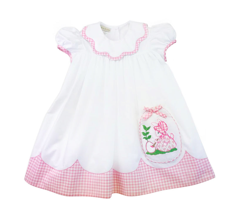 Easter Bunny  Float girl's dress - Little Threads Inc. Children's Clothing
