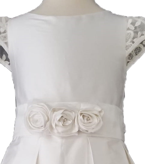 Silk First Communion dress - Little Threads Inc. Children's Clothing