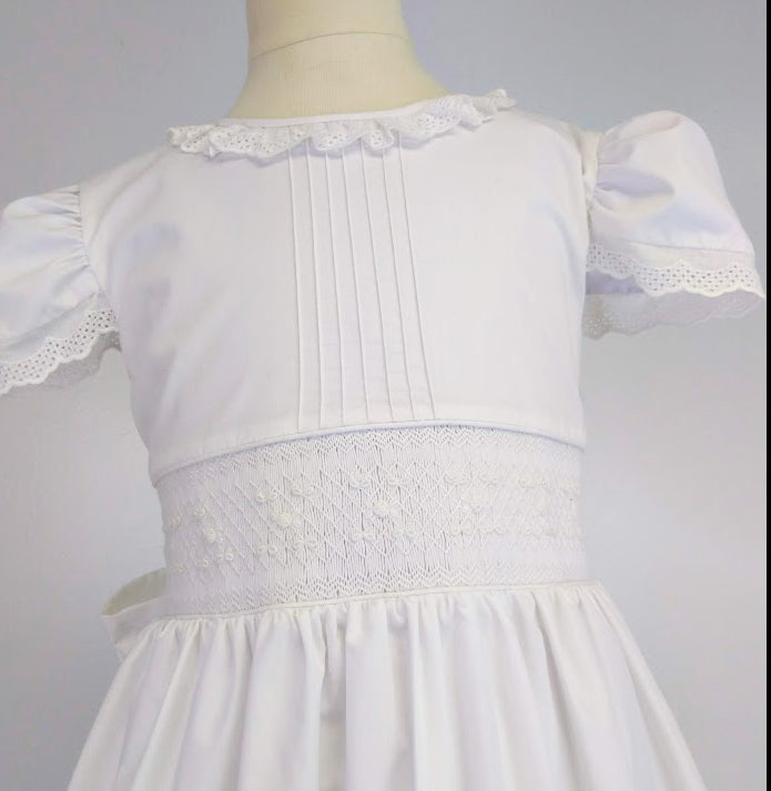 Hand Smocked First Communion Dress