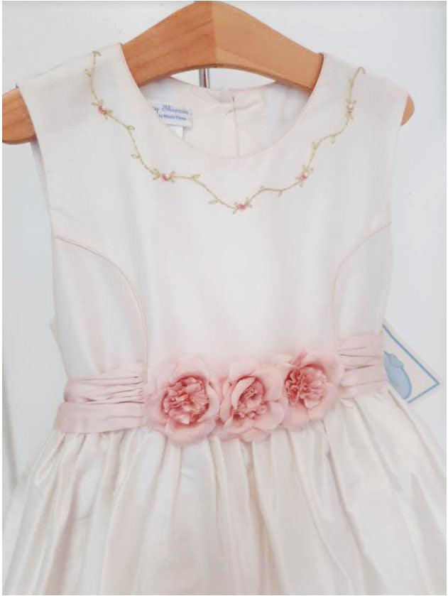 Elegant Flower Girl Silk Dress - Little Threads Inc. Children's Clothing