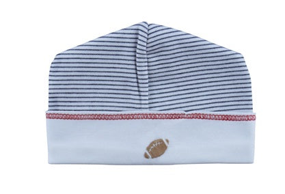 Football Pima cotton baby hat