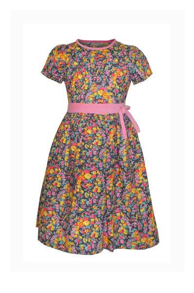 Liberty of London  Fabric Floral  Grl's Fall Dress - Little Threads Inc. Children's Clothing