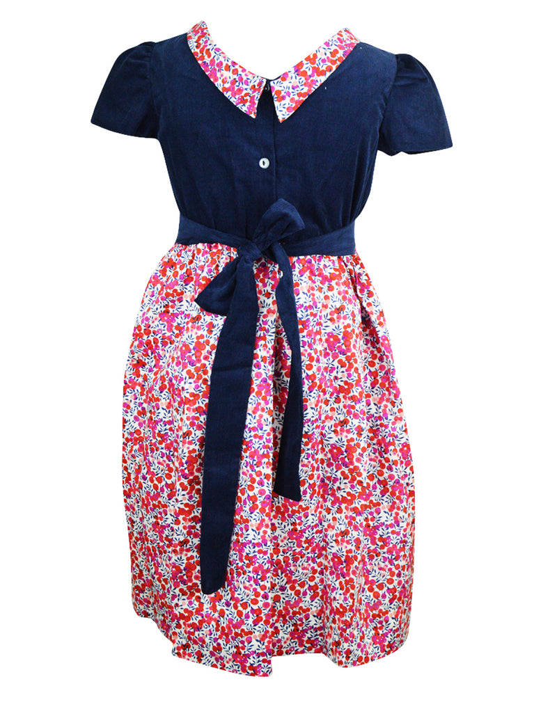 Maggie Liberty of London with Navy Cord dress - Little Threads Inc. Children's Clothing