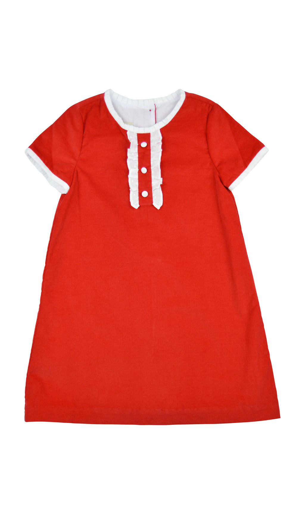 Christmas Ruffle Cord Dress - Little Threads Inc. Children's Clothing
