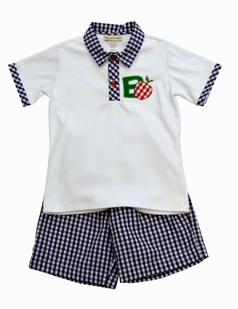 "Little Threads Back to School  Boy""s Short set"