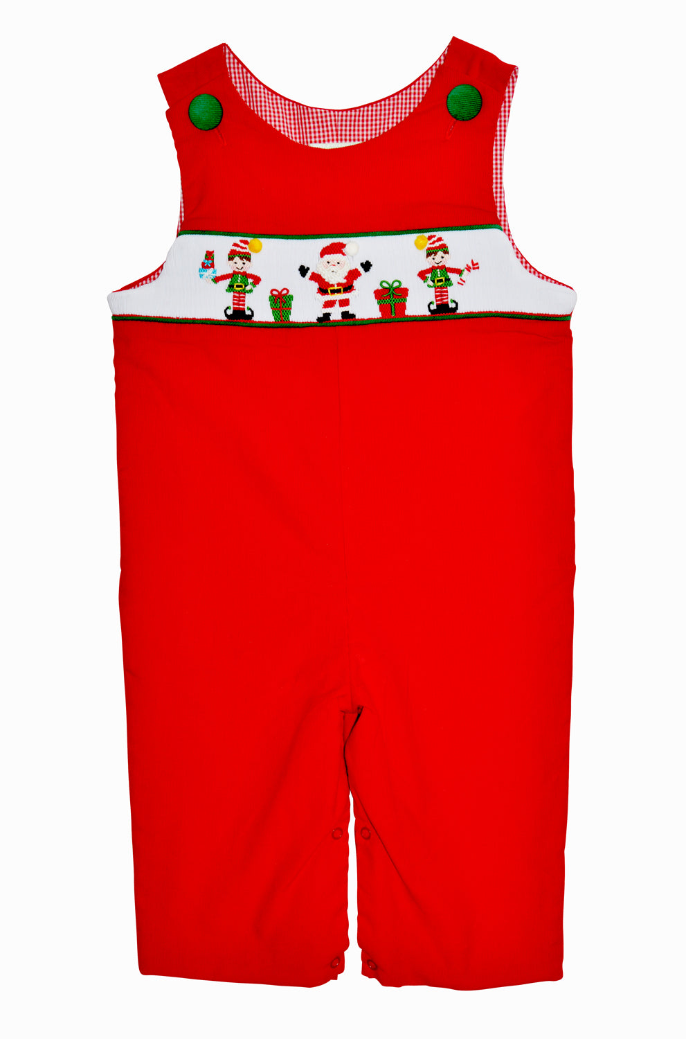 Santa Workshop  Long overall - Little Threads Inc. Children's Clothing