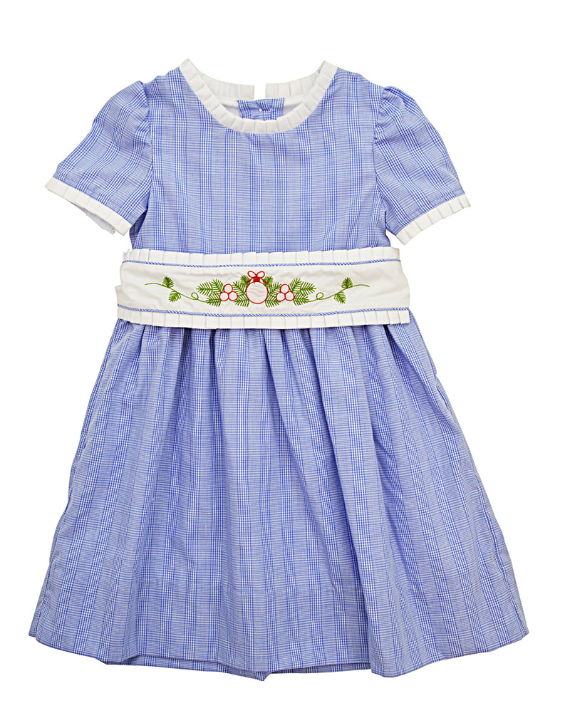 One Dress, two Holidays,  Dual Sash Dress - Little Threads Inc. Children's Clothing