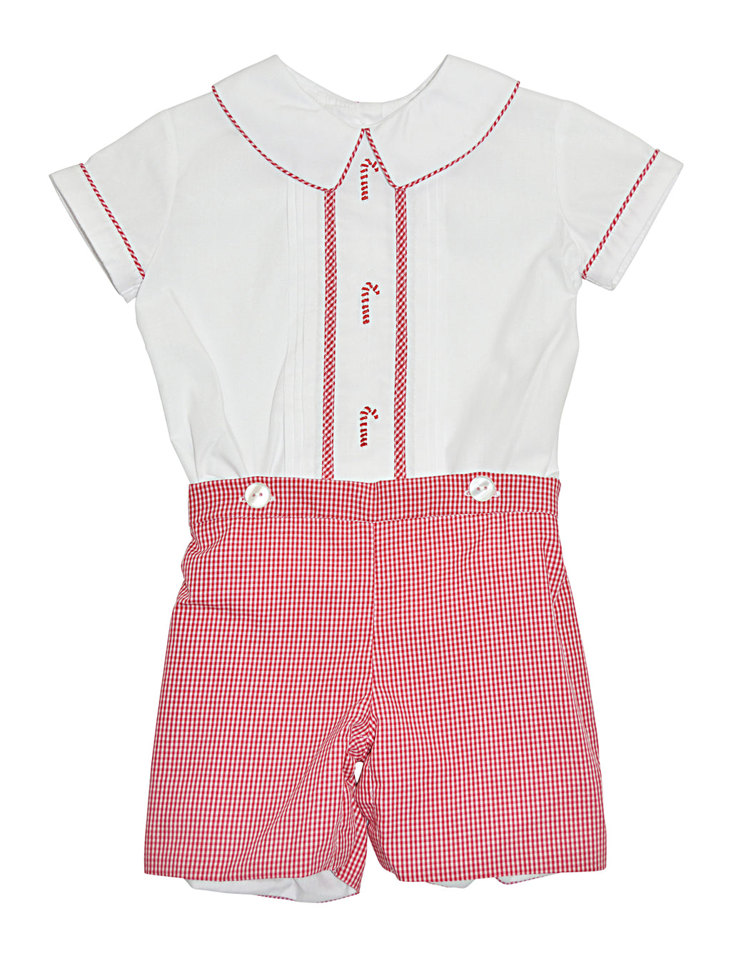 Candy Cane Boy's Short set - Little Threads Inc. Children's Clothing