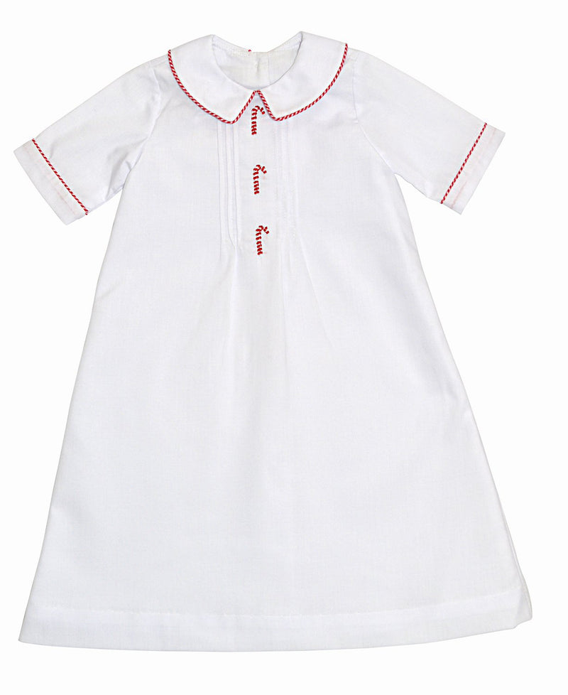 Candy Canes Batiste Baby Boy's daygown - Little Threads Inc. Children's Clothing