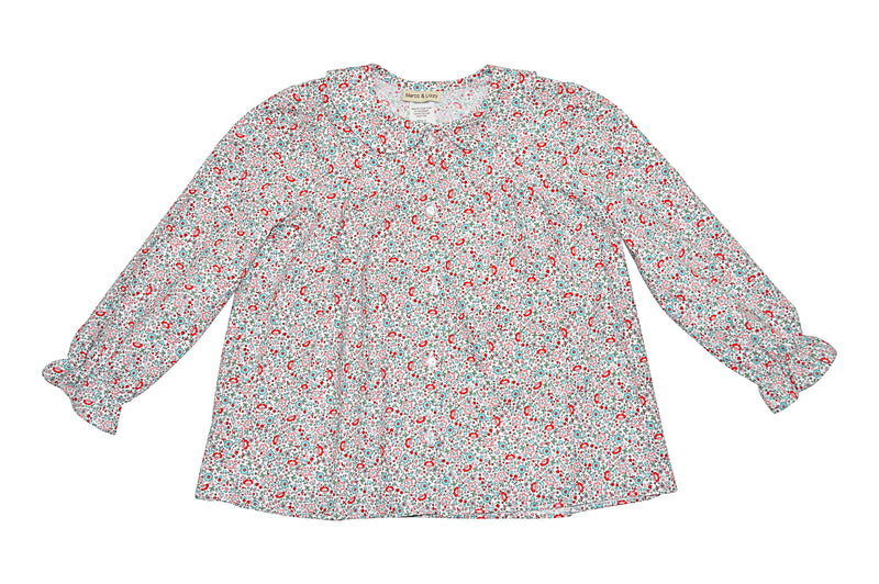 Ava Floral Print Blouse - Little Threads Inc. Children's Clothing