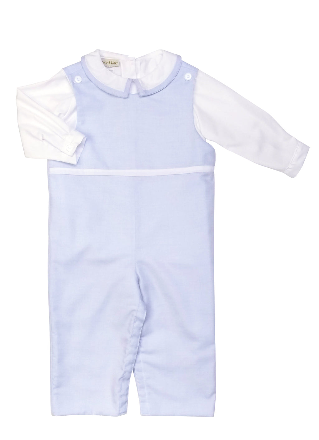 Todd Baby Boys Blue Viella Overalls Set - Little Threads Inc. Children's Clothing