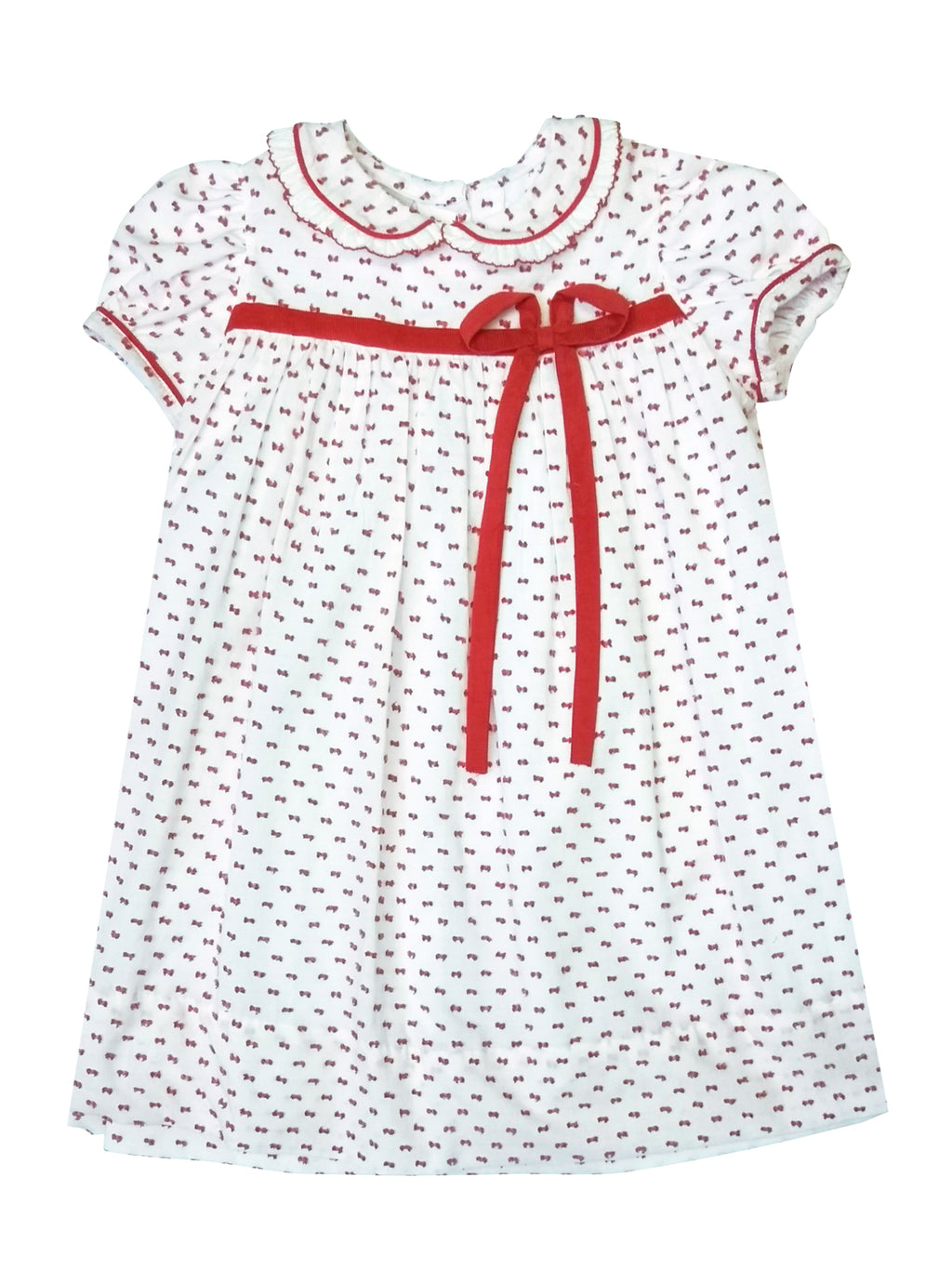 Red Plumetti Girls Dress - Little Threads Inc. Children's Clothing