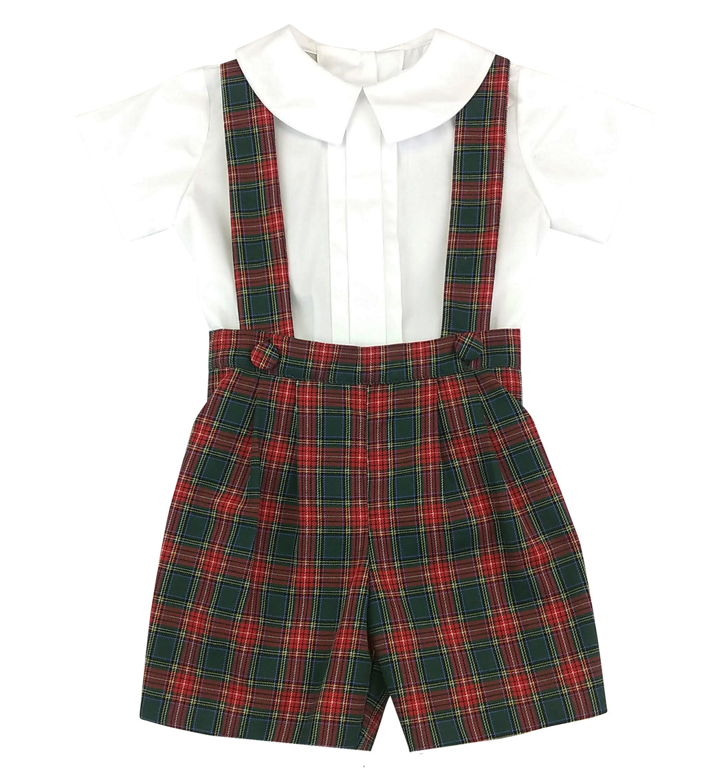 George Plaid Christmas Boys Shorts Set - Little Threads Inc. Children's Clothing
