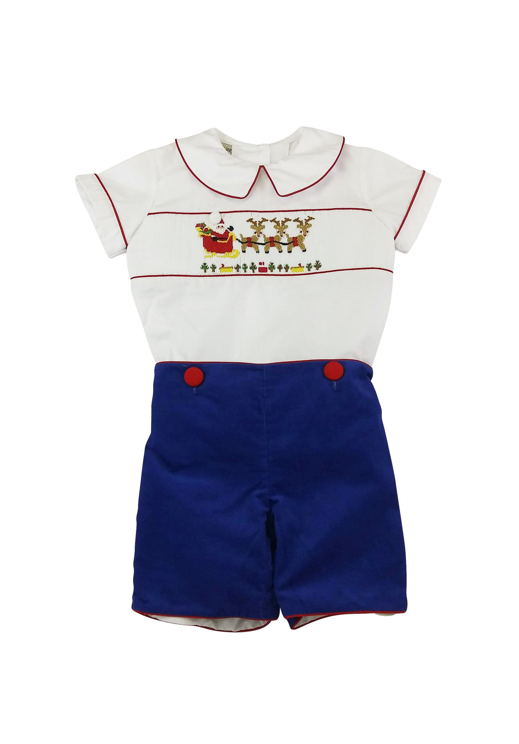 Santa On The Way Boy's Short Set - Little Threads Inc. Children's Clothing