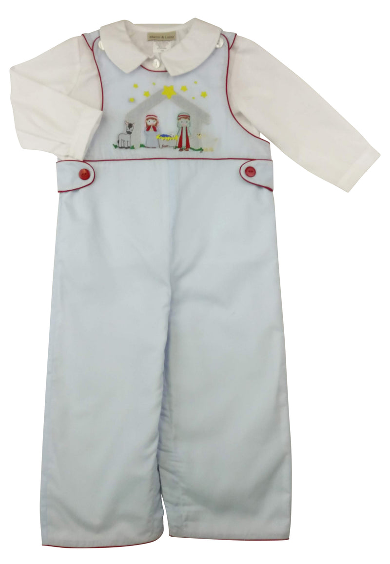 Nativity Boy's Overall  Set - Little Threads Inc. Children's Clothing