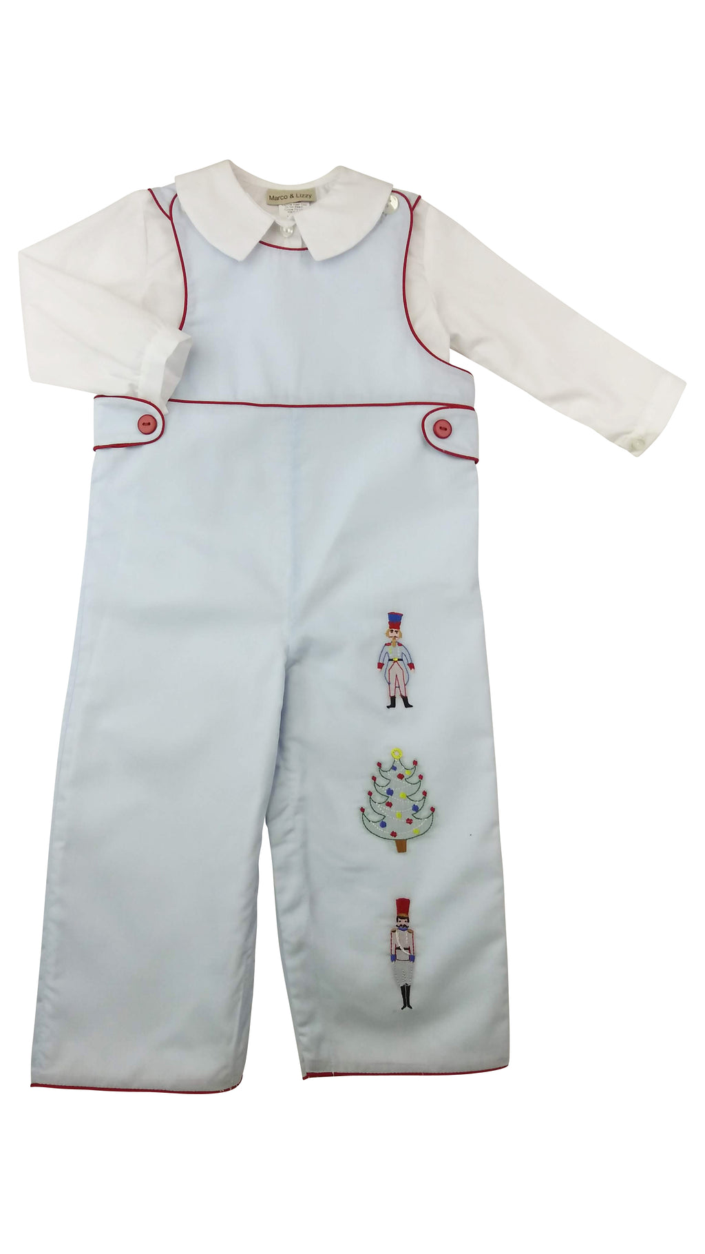 Nutcracker Vintage Look Boy's Overall - Little Threads Inc. Children's Clothing