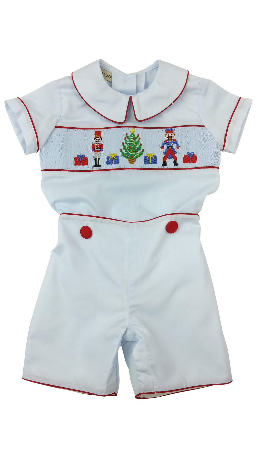 Nutcracker Boys Hand Smocked Short Set - Little Threads Inc. Children's Clothing