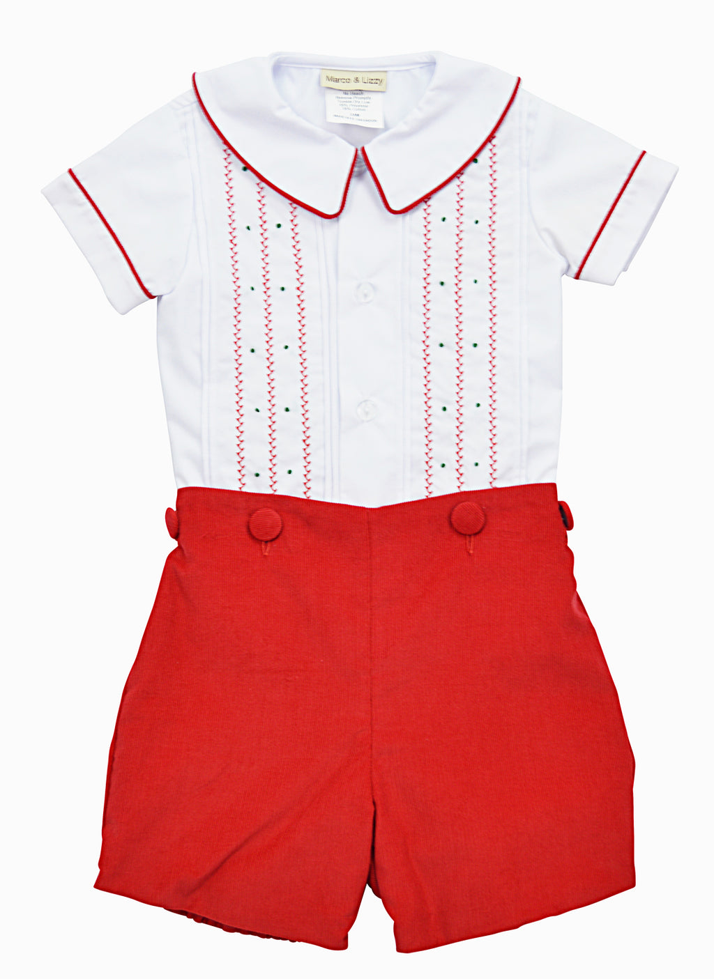 Christmas Time Red Boy's Short Set - Little Threads Inc. Children's Clothing