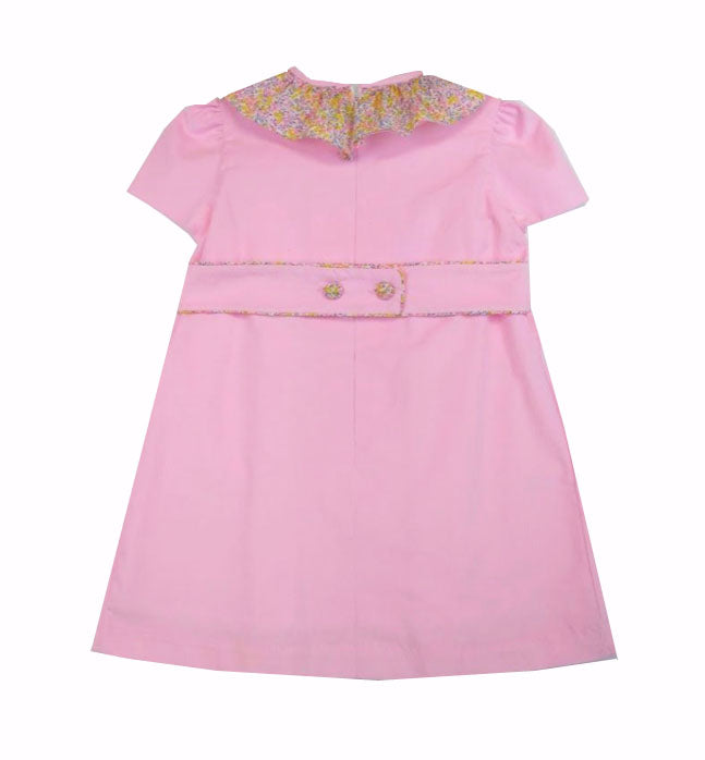 Classic Fall Pink Cord Girl's Dress - Little Threads Inc. Children's Clothing