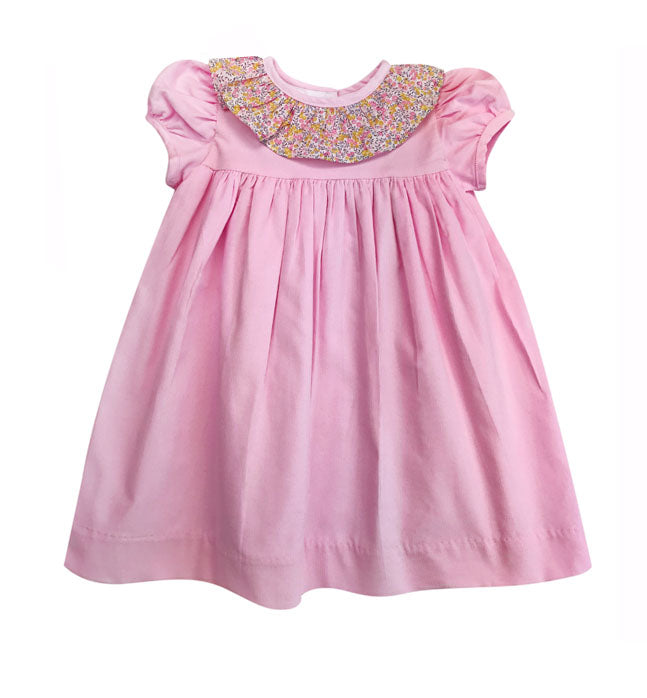 Fall Classic Pink Cord Girl's Dress - Little Threads Inc. Children's Clothing