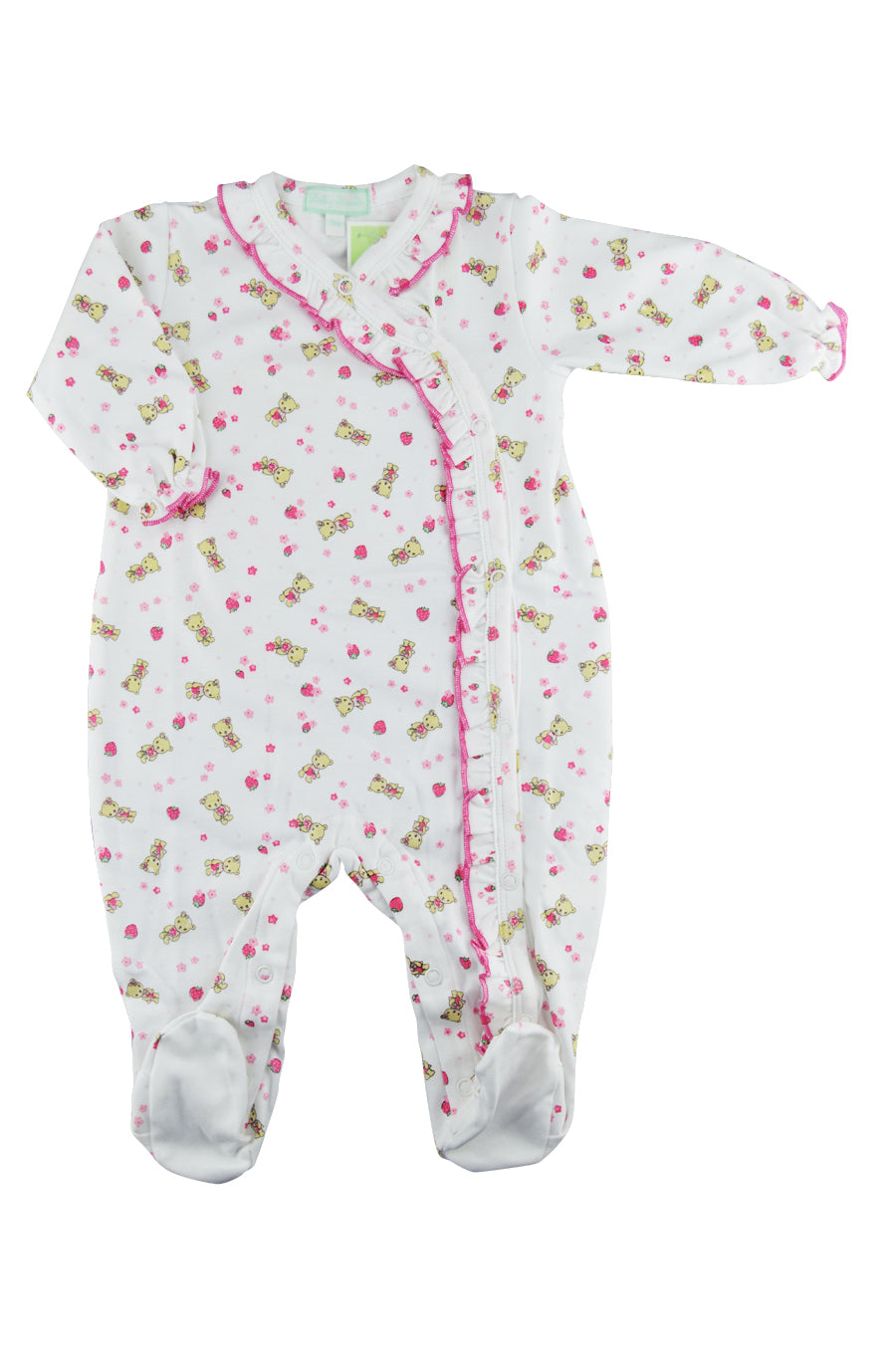 Baby Girl's Berry Bear Footie - Little Threads Inc. Children's Clothing