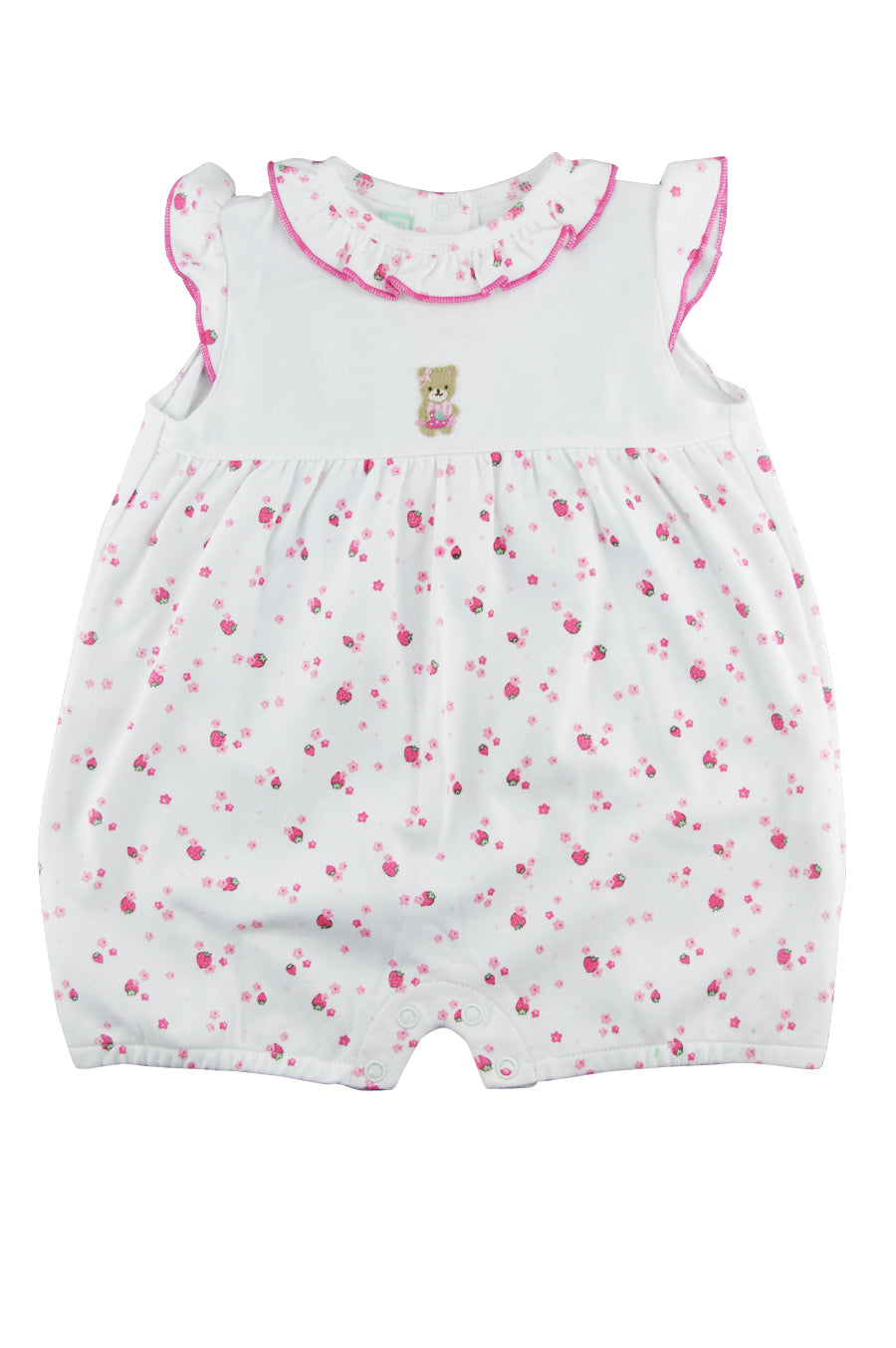 Baby Girl's Berry Bear Romper - Little Threads Inc. Children's Clothing