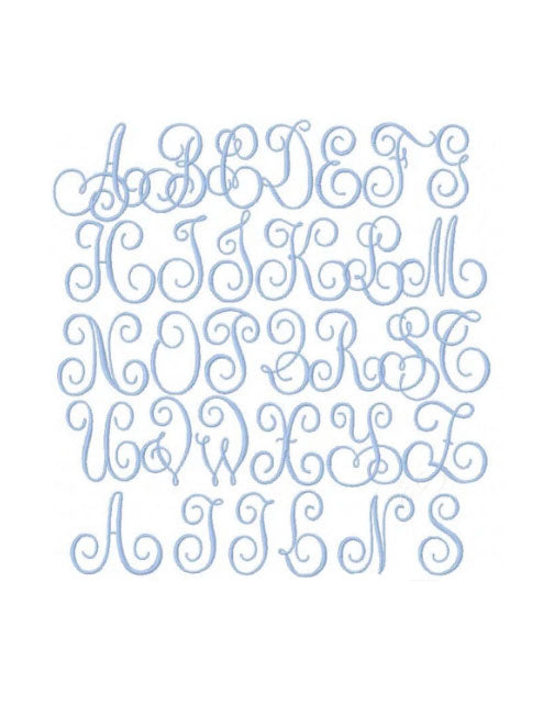 Kings Street  Embroidery Font - Little Threads Inc. Children's Clothing