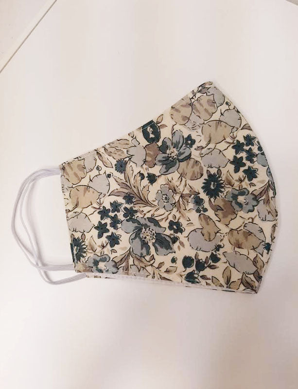 Grey Liberty of London print  mask - Little Threads Inc. Children's Clothing