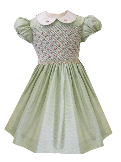 Spring Silk Girl's dress - Little Threads Inc. Children's Clothing